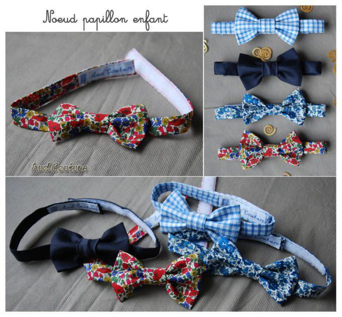 Noeud papillon simple - enfant - Liberty Capel Marine