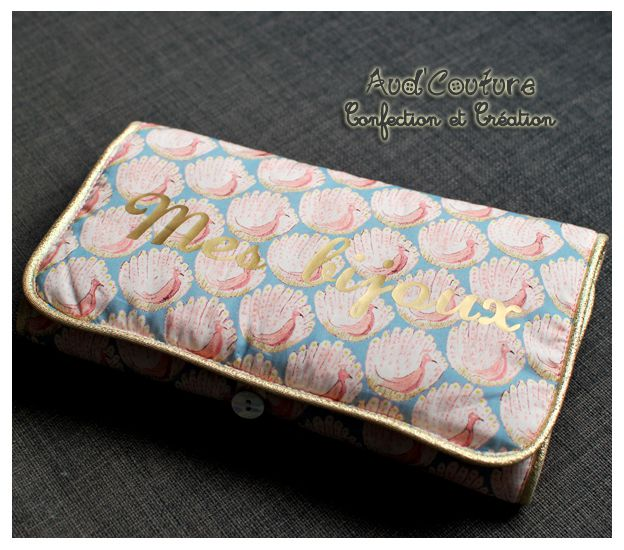 Pochette à bijoux n(home)ade Liberty Peacock